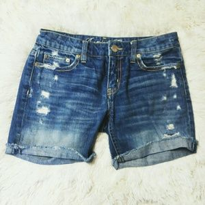 American Eagle Live Your Life Distressed Shorts